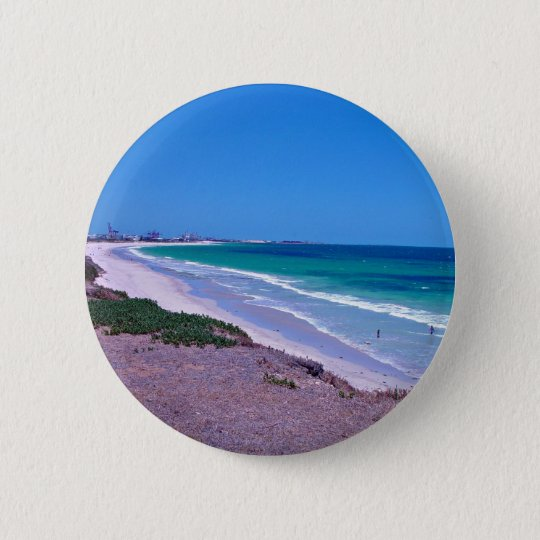 Sea shore pinback button