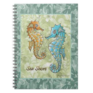 Sea Shore Seahorses Notebook