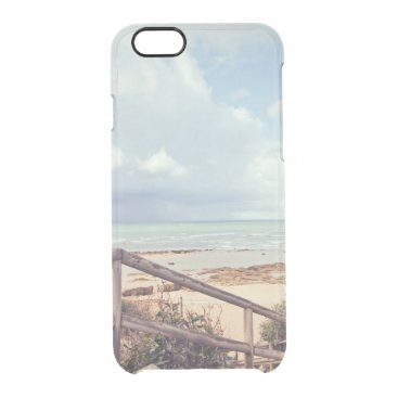 Beach Themed sea shore. Spain Clear iPhone 6/6S Case