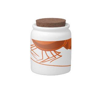Sea shrimp candy jar