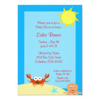 Sea Side Baby Shower Invitation