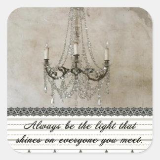 Sea siempre la luz pegatina cuadrada