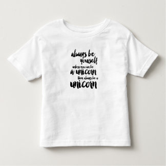 Sea siempre un unicornio playera de niño