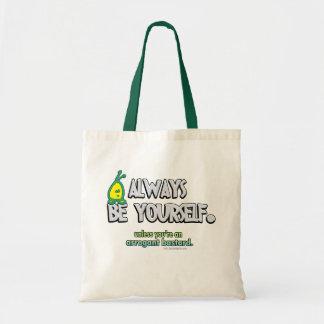 Sea siempre usted mismo… bolsa tela barata