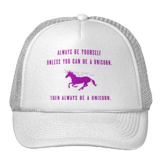 Sea siempre usted mismo gorras