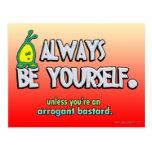 Sea siempre usted mismo… postal