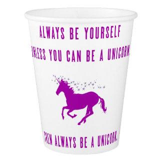 sea siempre usted mismo vaso de papel