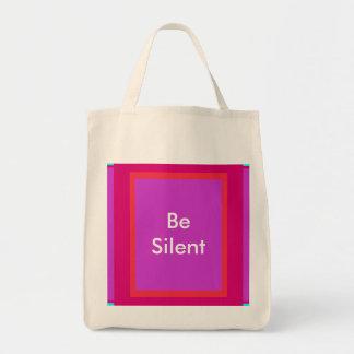 Sea silencioso los regalos de Zazzle del MUSEO Bolsa Tela Para La Compra