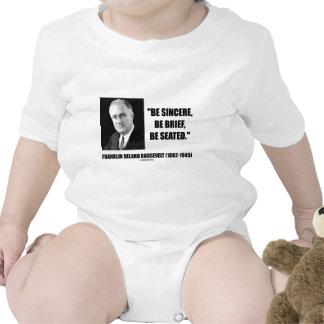 Sea sincero sea breve se asiente camisetas
