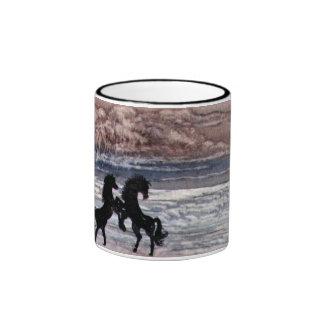 Sea, Sky & Horses Ringer Mug