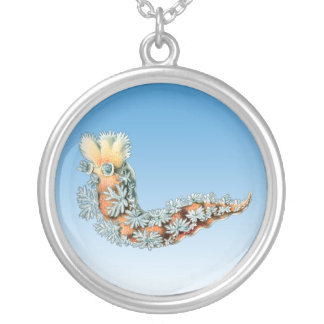 Sea Slug Round Pendant Necklace