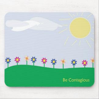Sea sol contagiosa alfombrilla de ratón