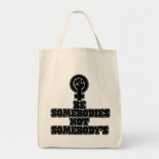 Sea somebodies no alguien bolsa tela para la compra