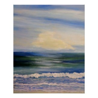 Sea Song Ocean Beach Painting Art Poster