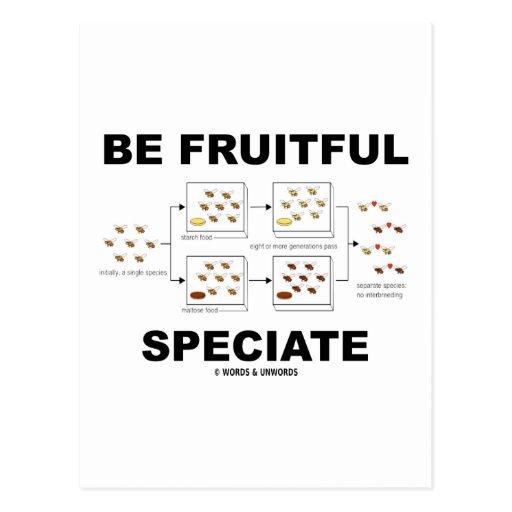 Sea Speciate fructuoso (el humor de la evolución) Postal