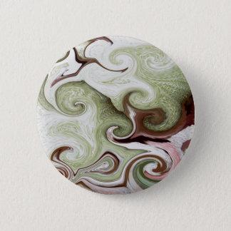 Sea Sponges Shells Seafoam Green Pink White Balls Pinback Button