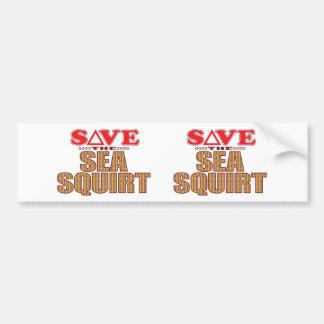 Sea Squirt Save Bumper Sticker