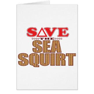 Sea Squirt Save Card