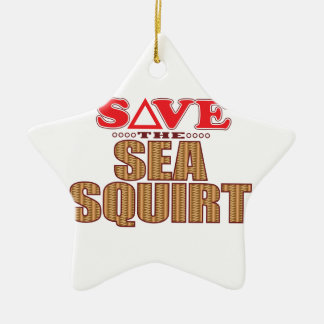 Sea Squirt Save Ceramic Ornament