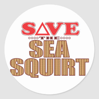 Sea Squirt Save Classic Round Sticker