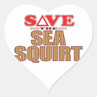 Sea Squirt Save Heart Sticker