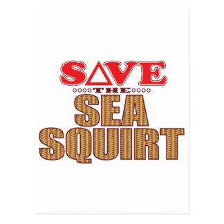 Sea Squirt Save Postcard