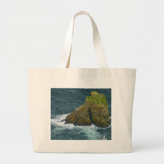 Sea Stack At The Slieve League Cliffs In Ireland Jumbo Tote Bag