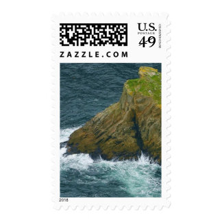 Sea Stack At The Slieve League Cliffs In Ireland Stamp