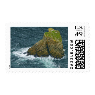 Sea Stack At The Slieve League Cliffs In Ireland Postage Stamp