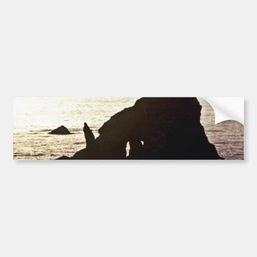 Sea Stack - Off Redwood National Park Car Bumper Sticker