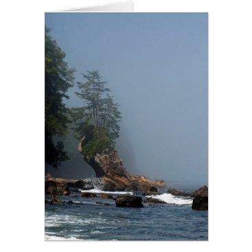 Beach Themed Sea Stack on Hwy 112, WA Card