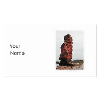Sea Stack Rock. Ladram Bay, Devon. UK. Business Card Templates