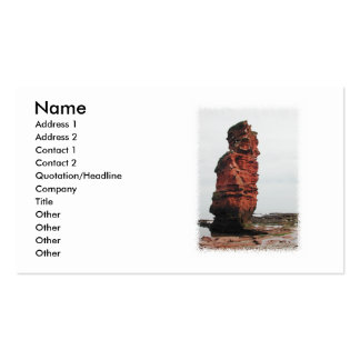 Sea Stack Rock. Ladram Bay, Devon. UK. Business Cards