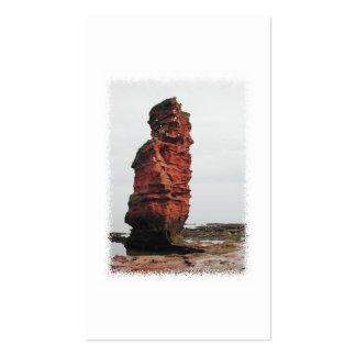 Sea Stack Rock. Ladram Bay, Devon. UK. Business Card Template