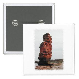 Sea Stack Rock. Ladram Bay, Devon. UK. Pinback Buttons