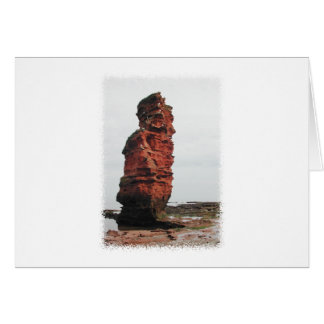 Sea Stack Rock. Ladram Bay, Devon. UK. Card
