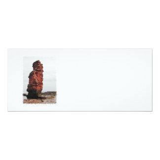 Sea Stack Rock. Ladram Bay, Devon. UK. 4x9.25 Paper Invitation Card