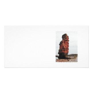 Sea Stack Rock. Ladram Bay, Devon. UK. Custom Photo Card