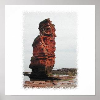 Sea Stack Rock. Ladram Bay, Devon. UK. Poster