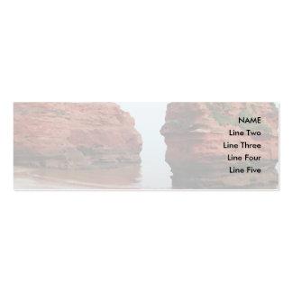 Sea Stack Rocks. Ladram Bay. Devon. UK. Business Cards