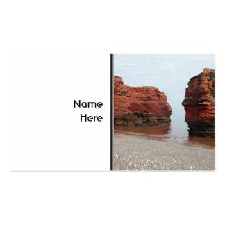 Sea Stack Rocks. Ladram Bay. Devon. UK. Business Card Template