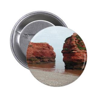 Sea Stack Rocks. Ladram Bay. Devon. UK. Buttons