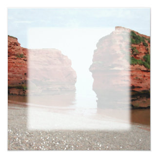 Sea Stack Rocks. Ladram Bay. Devon. UK. Card
