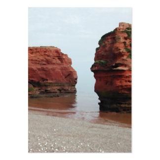 Sea Stack Rocks. Ladram Bay. Devon. UK. Large Business Card