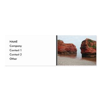 Sea Stack Rocks. Ladram Bay. Devon. UK. Mini Business Card