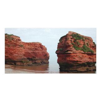 Sea Stack Rocks. Ladram Bay. Devon. UK. Photo Card
