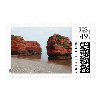 Sea Stack Rocks. Ladram Bay. Devon. UK. Stamp