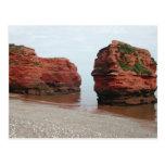 Sea Stack Rocks. Ladram Bay. Devon. UK. Postcard