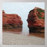 Sea Stack Rocks. Ladram Bay. Devon. UK. Poster