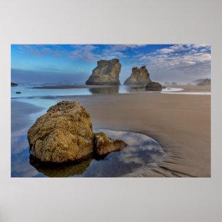 Sea Stacks on Bandon Beach in Bandon, Oregon 2 Poster
